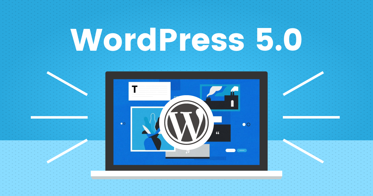 WordPress 5.0 update featured image
